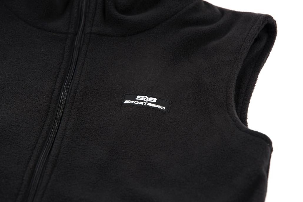 Chaleco Polar Calefactable Sportbero Black