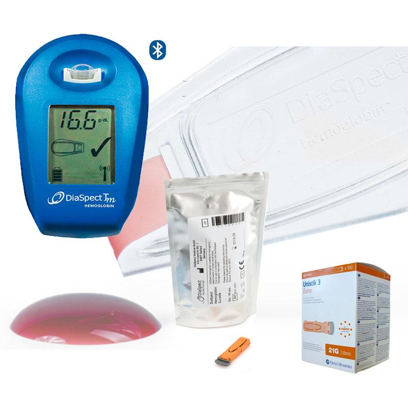 Analizador de Hemoglobina DiaSpect Tm BT Pack iniciación con Bluetooth