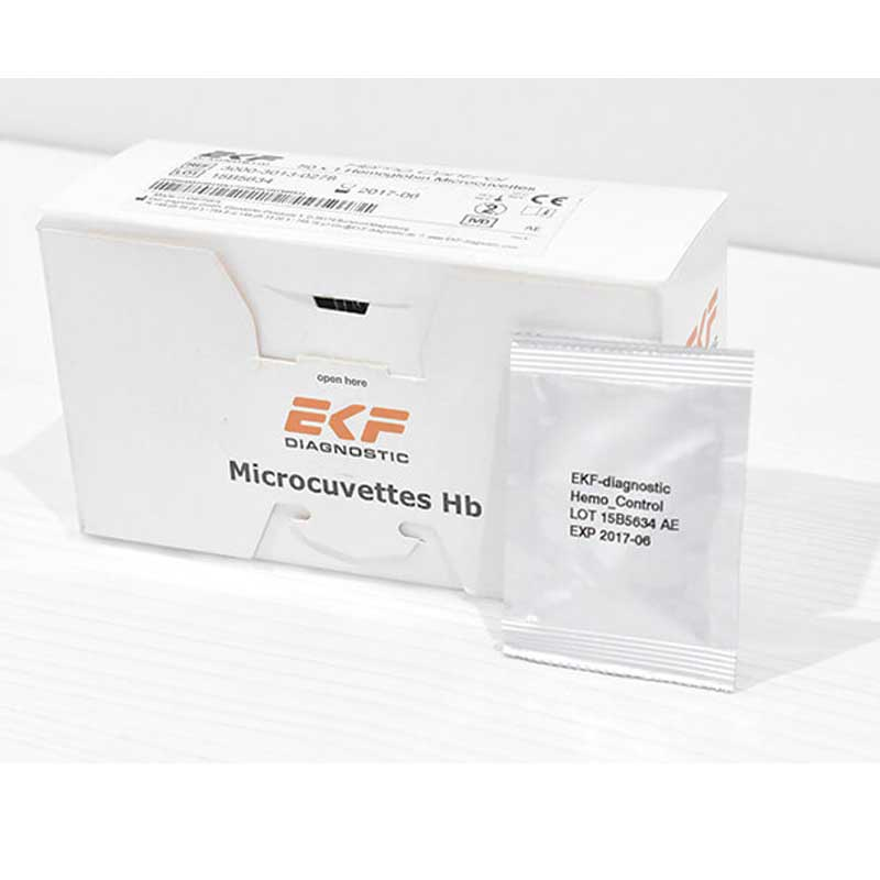 Caja de 50 microcubetas para Hemo Control envasadas individualmente
